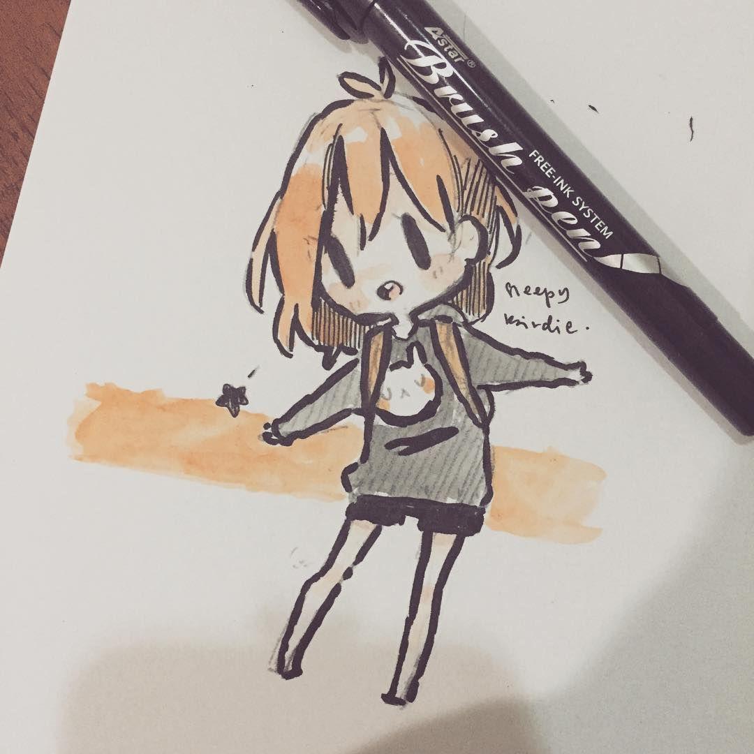 Brush Pen 0 Kawaii Drawings Kawaii Art Cute Art