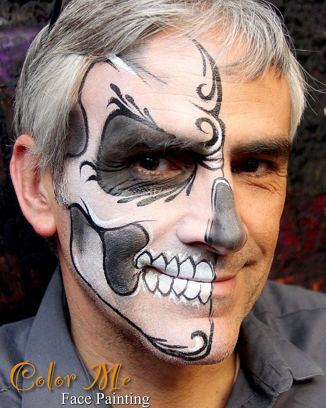 Color Me Face Painting Halloween and Sugar Skulls Face Painting - face painting halloween ideas