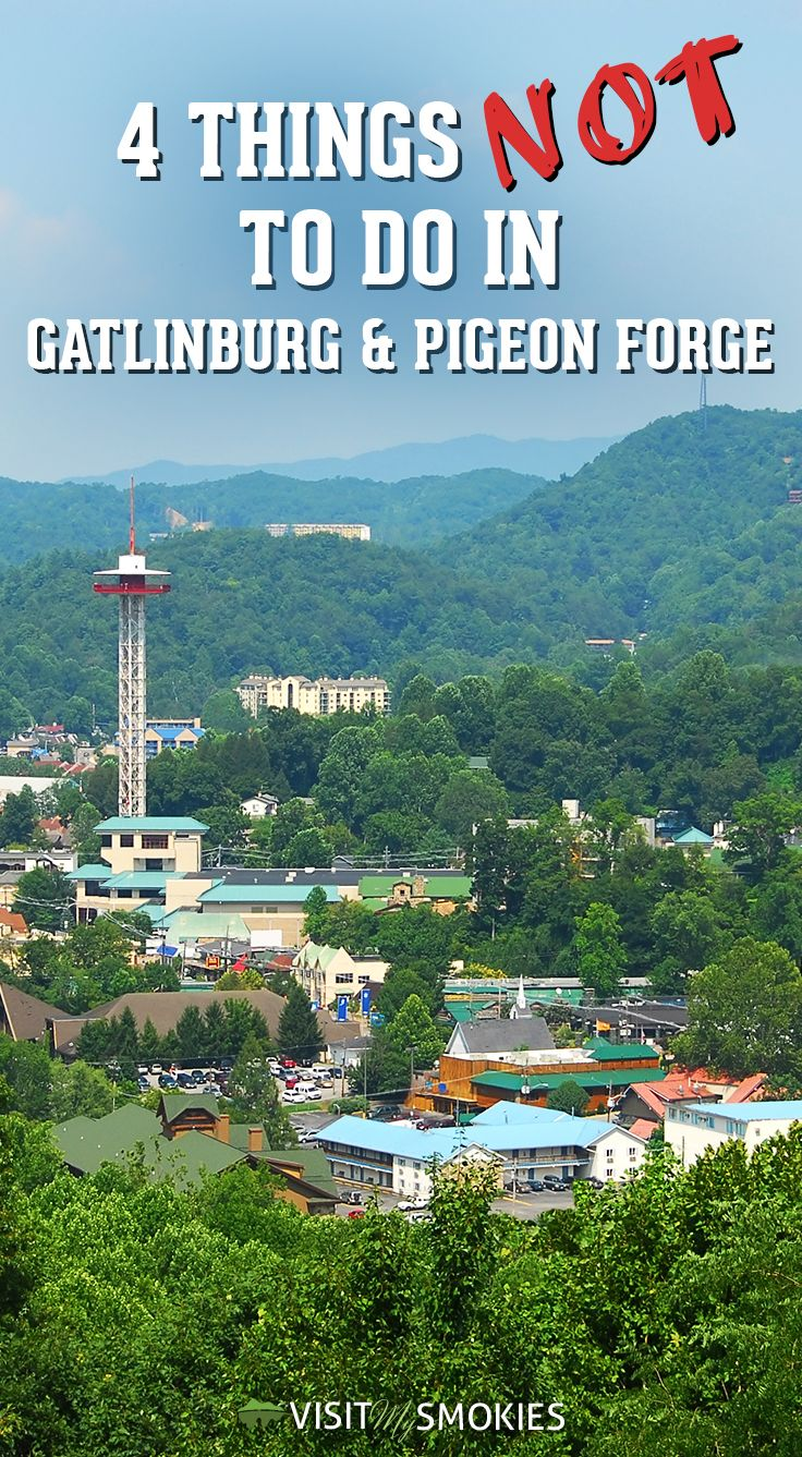 4 things not to do in gatlinburg and pigeon forge pinterest rh pinterest com