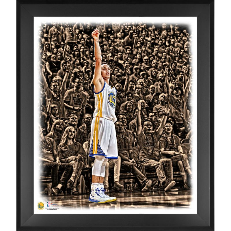 e1150f78a16d Stephen Curry Golden State Warriors Fanatics Authentic Framed 20   x 24    Shooting In the Zone Photograph