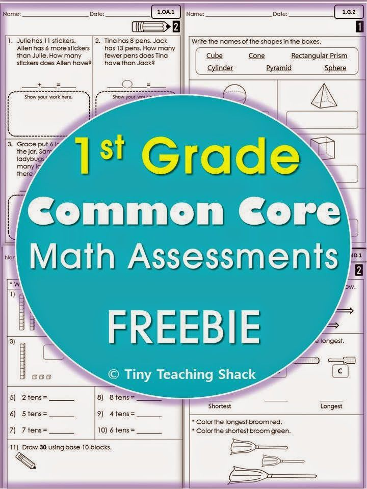 Tiny Teaching Shack: First Grade Common Core Math Assessments | Math ...