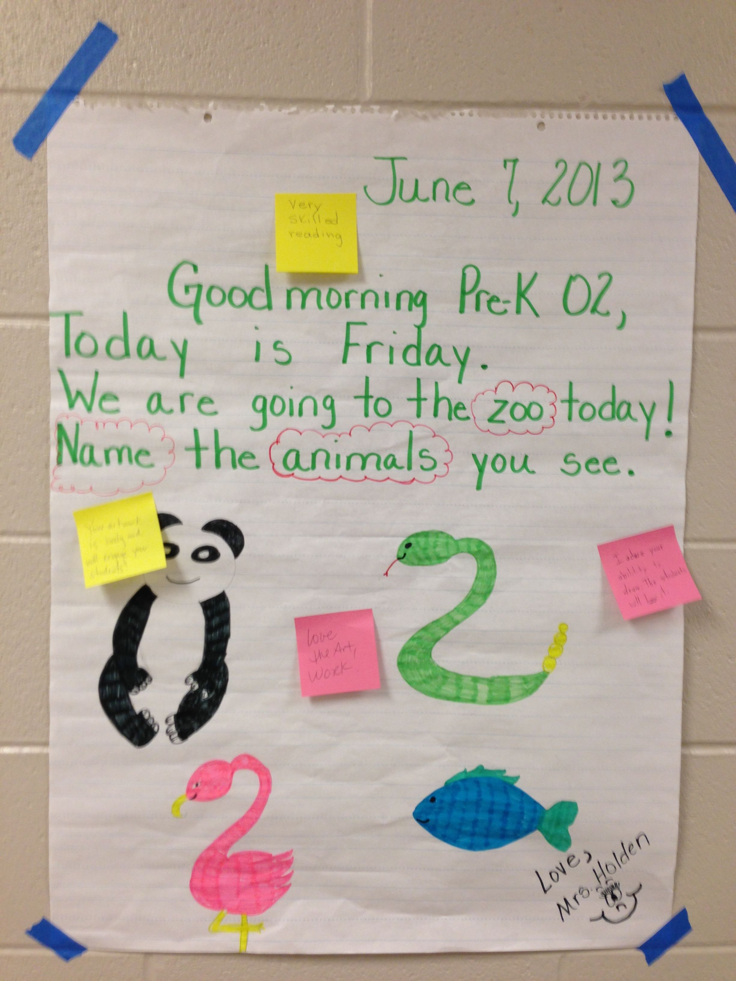 Morning message idea have students circle words they can read morning message idea have students circle words they can read sound out words to kristyandbryce Image collections