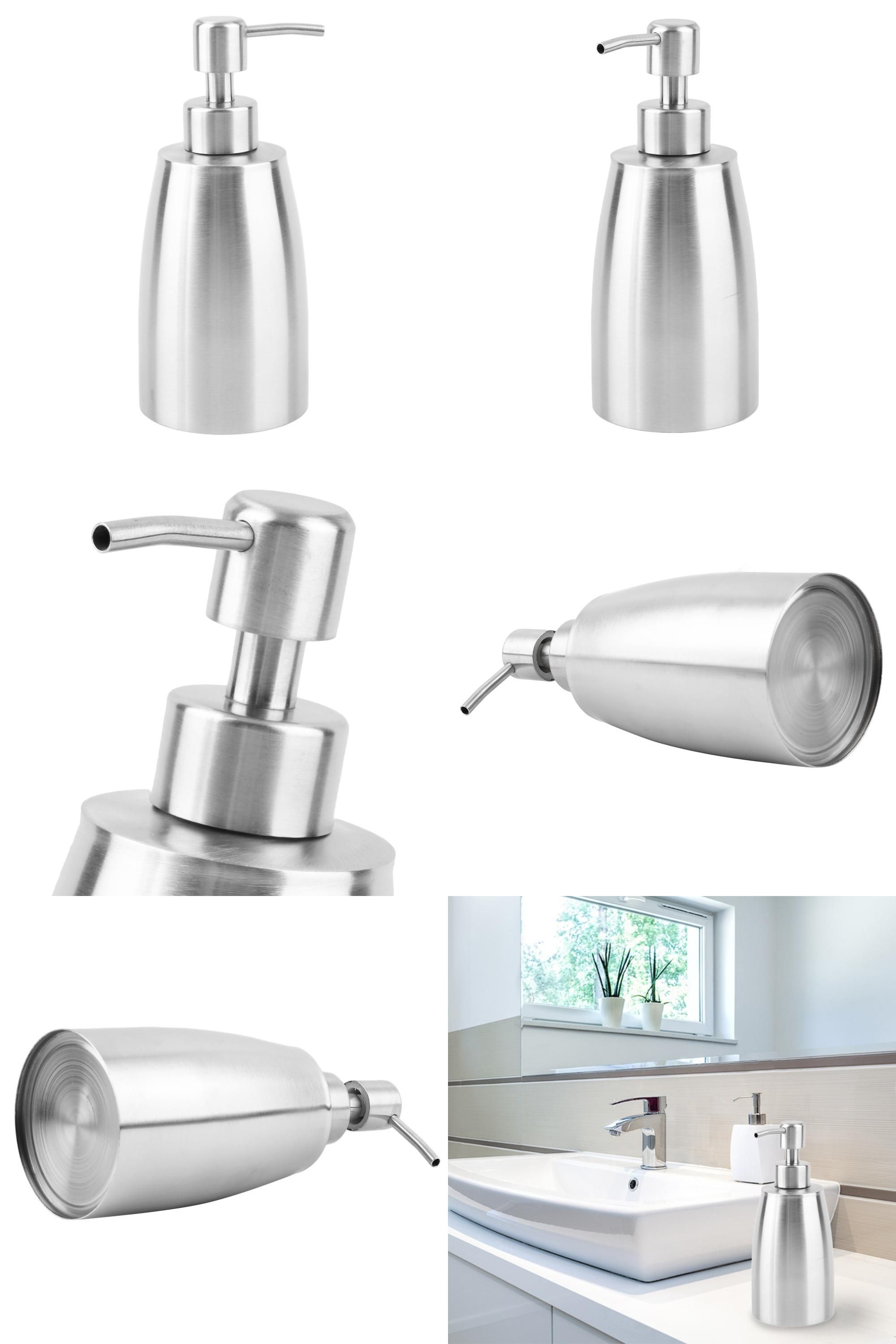 Visit to Buy] New Stainless Steel Liquid Pump Soap Automatic