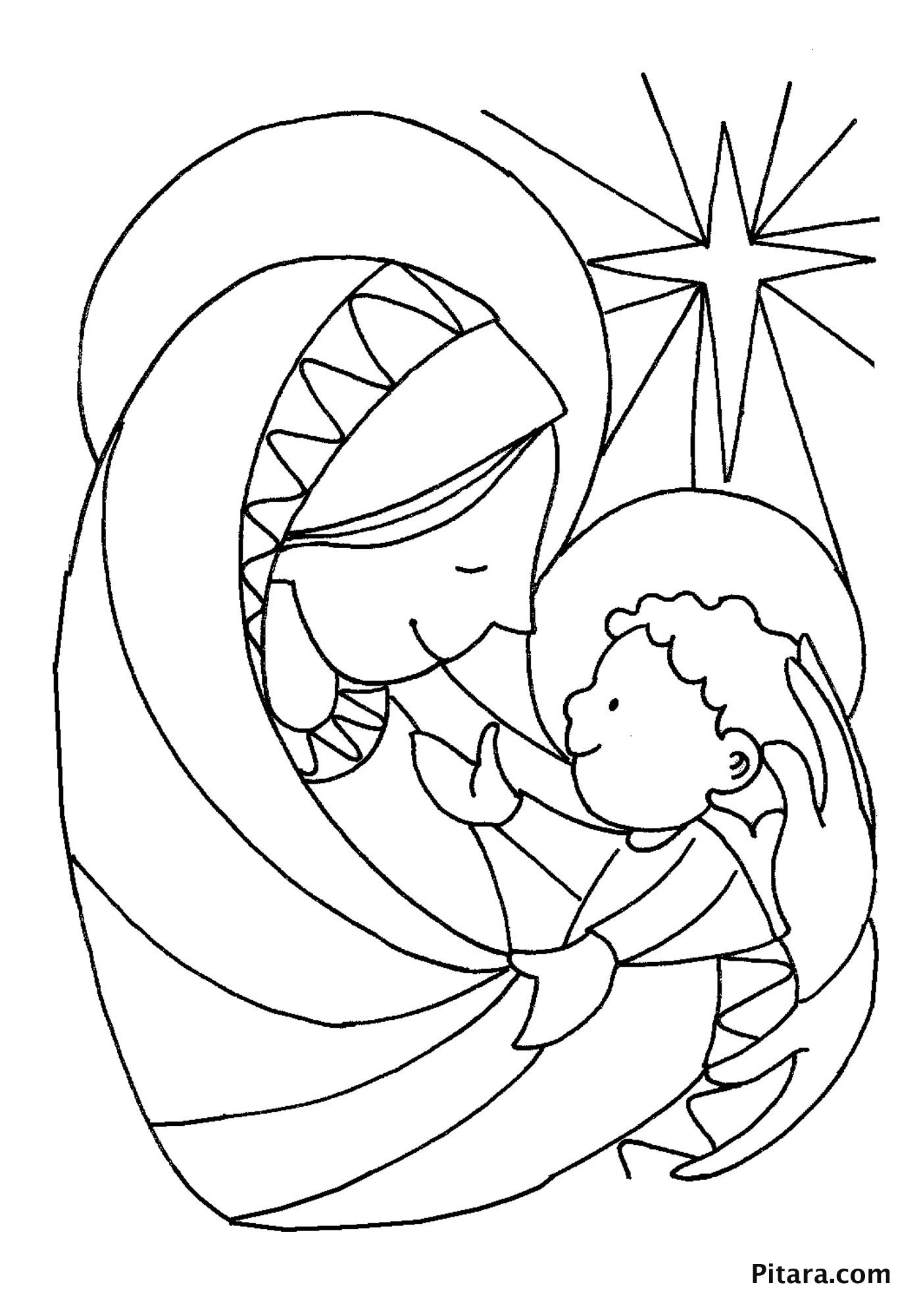 Mary And Baby Jesus Coloring Pages Jesus coloring pages