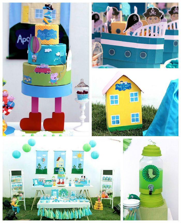 Peppa Pig Birthday Party via Kara's Party Ideas   KarasPartyIdeas.com #peppapigparty (3)