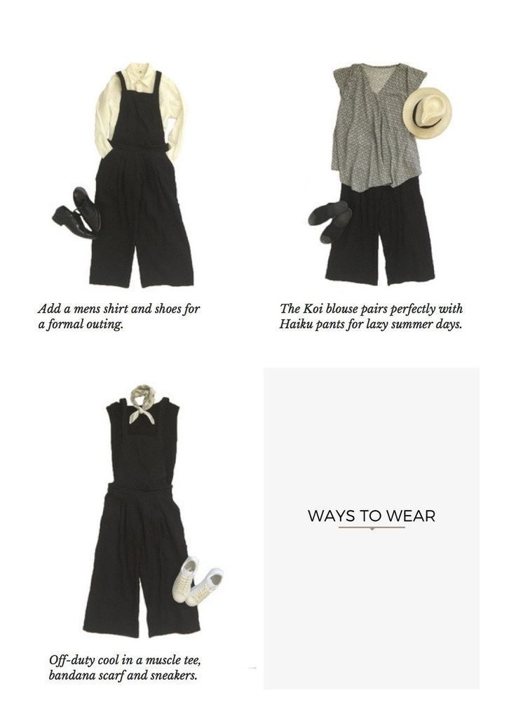 Yoko Convertible Overalls Pants Sewing Pattern | MOLDES ROPA ...