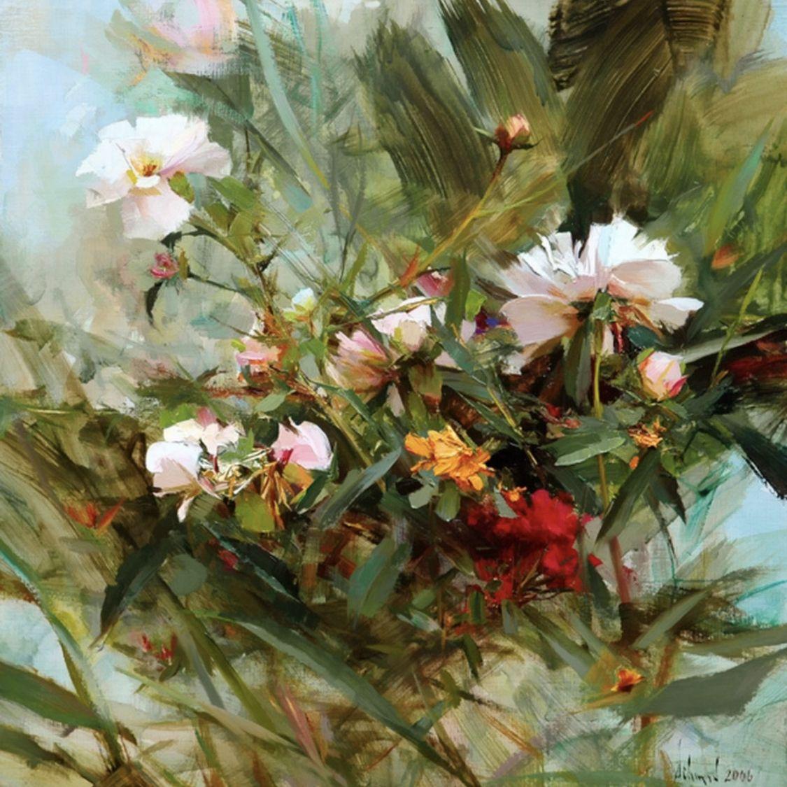 Картинки по запросу richard schmid flower paintings