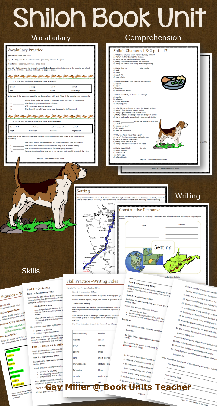 Shiloh by Phyllis Reynolds Naylor Activities   Book Units Teacher   Shiloh  book [ 1344 x 720 Pixel ]