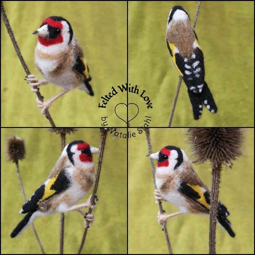 #goldfinch #needlefelting #feltedwithlove #fibreart #wool #bird