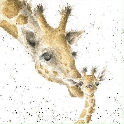 Art Giraffe Wrendale Designs Poietes Animals In