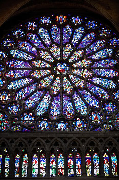 Medieval Rayonnant Gothic Stained Glass Rose Window The Gothic Cathedral Basilica Of Saint Denis Basiliqu Stained Glass Rose Stained Glass Angel Art Stained