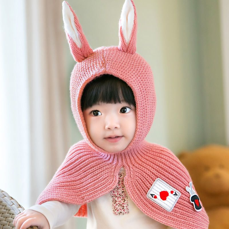 7d4bfbe13a6 Click to Buy    Cute Toddler Crochet Beanie Baby Girls Boys Kids Bunny  Rabbit Ears Wool Scarf Tippet Wraps Princess Knitted Winter Hat Hood Cape   Affiliate