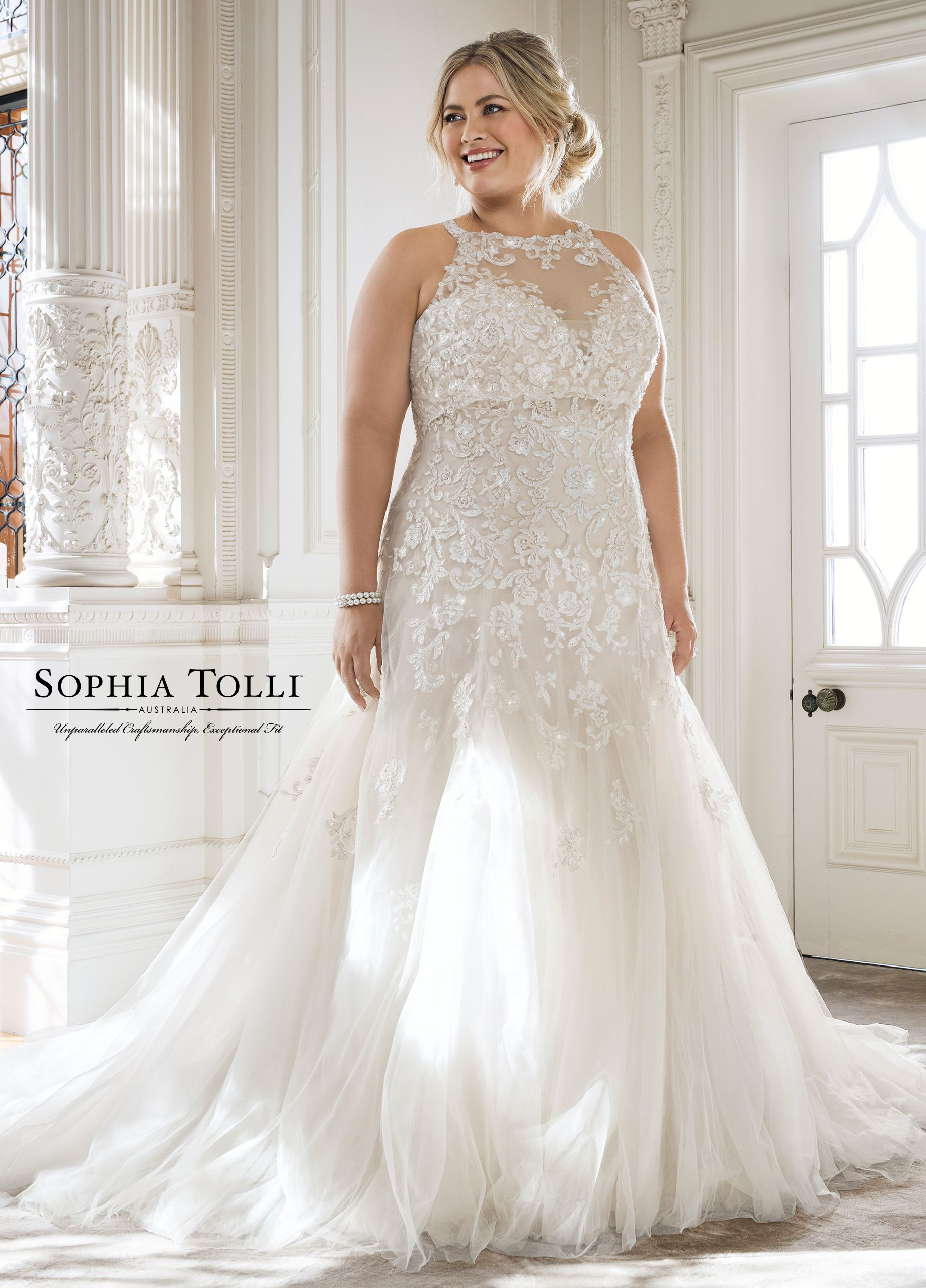 e0ba0b51612f Sophia Tolli Y11866 Adonia - Offering two looks in one, Adonia is a two- piece strapless misty tulle A-line gown offering a deep sweetheart neckline  with a ...