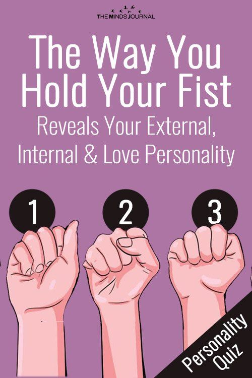 Way You Hold Your Fist Could Reveal Your External