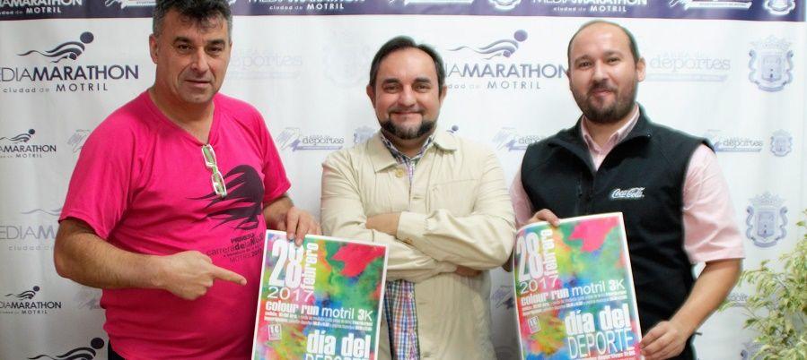 MOTRIL.El área de Deportes del Ayuntamiento de Motril espera una participación cercana a las 3.000 personas en la 'Colour Run' gracias a la gran aceptación que está teniendo