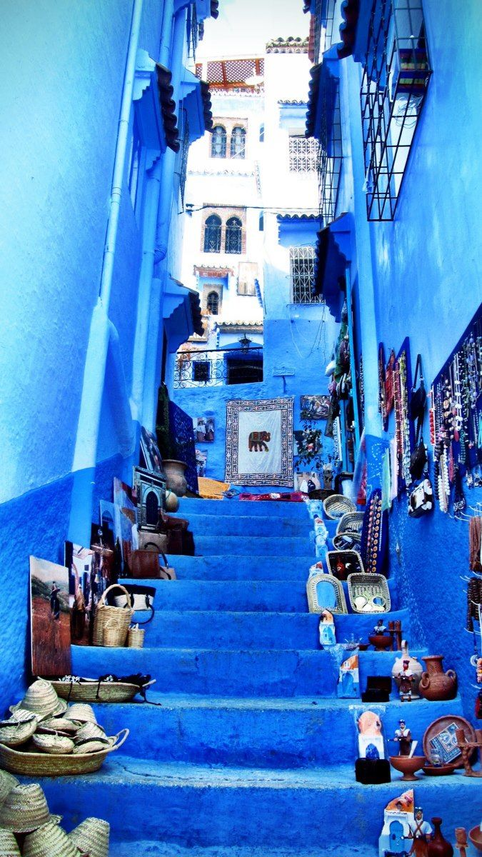 Beautiful Street in Morocco.Paradise Landscape