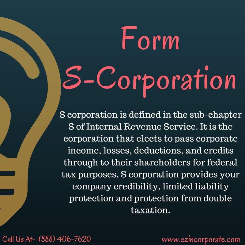S-Corporation Formation Services - EZ Incorporate