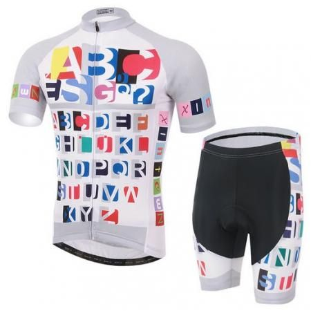 Xintown New Men Cycling Jersey Sets Colorful Bicycle Top Bike