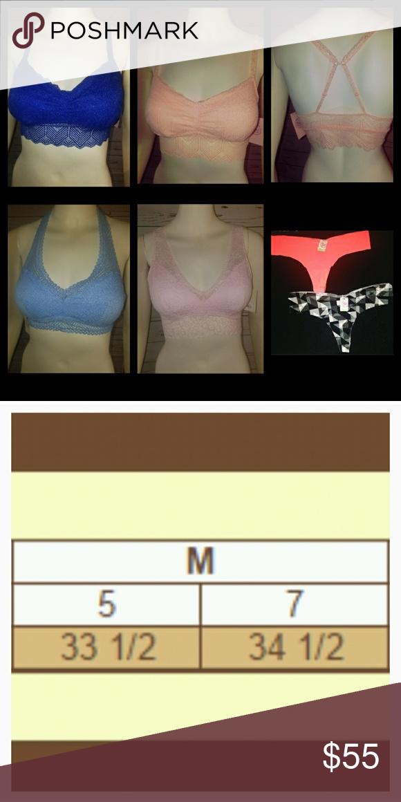 VALENTINE 💖 NWT! Medium SO Bralettes & Thongs 🎁 Lot