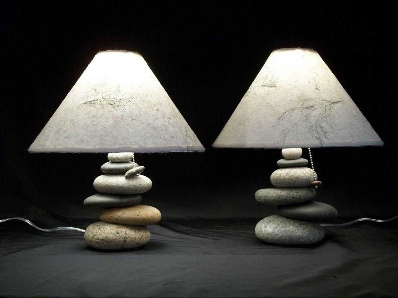 Bedside Lamps .set Of Balance Rock Lamps. $425.00, Via Etsy. LOVE!