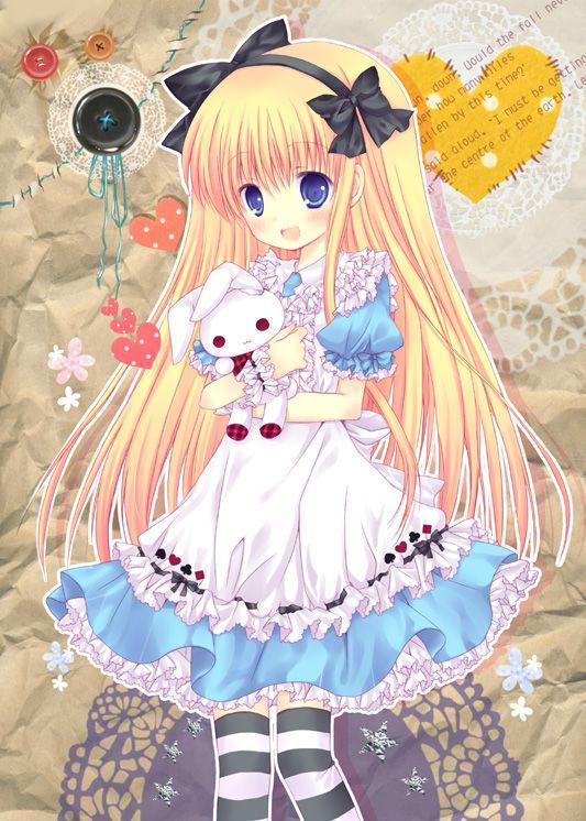 Base Alice in Wonderland (Mangas) Dessin animé kawaii