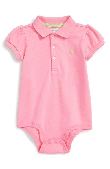 8fbf1f624 Ralph Lauren Polo Bodysuit (Baby Girls) available at #Nordstrom ...