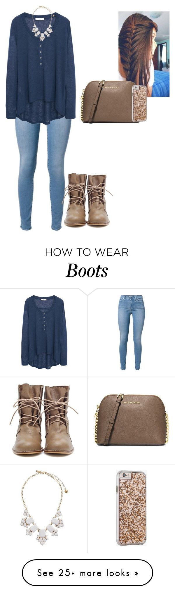 """""""I need to buy these boots"""" by jackelinhernandez on Polyvore featuring MANGO, MICHAEL Michael Kors, Case-Mate and Kate Spade"""