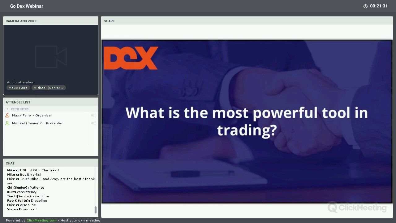 Behind The Scenes Look With The Dex Trader 5 Min Mdm Wb Member