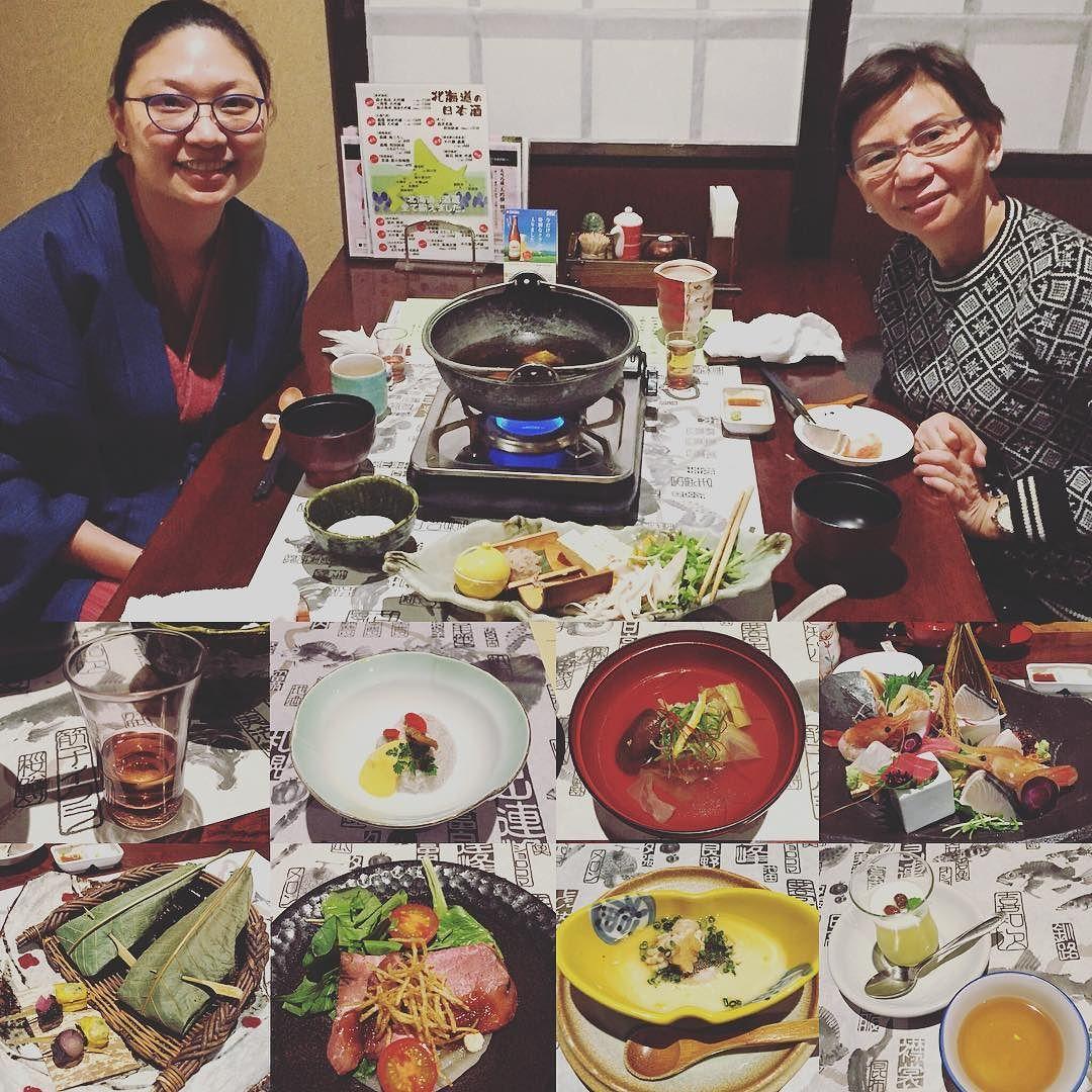 Last night's kaiseki #japanesedinner #traditionalmeal #ryoken #jozankei #jozenkai #jozenkaionsen #sapporo #hokkaido #japan #earlywinter #snow #kaiseki #japanesefood #nukumorinoyadofurukawa by val8yap