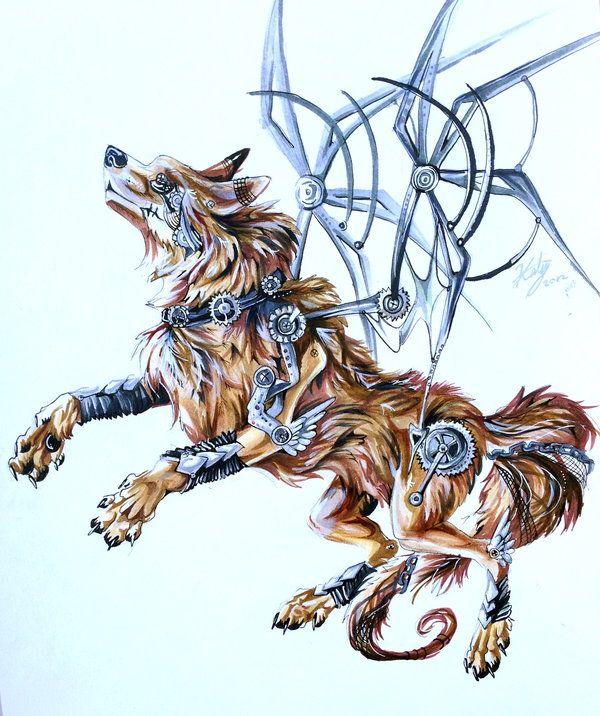 d7fdda8fb552a Steampunk Wolf by Lucky978.deviantart.com on @DeviantArt | Cool ...