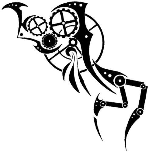 Tribal Gear Tattoo Steampunk Much Tattoos Upper Arm Tattoos