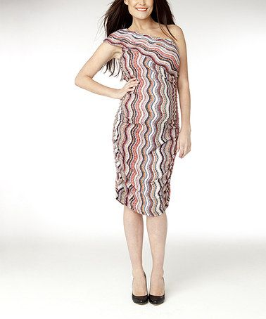 Take a look at this Coral Wave Miso Maternity Dress by Soon Maternity on #zulily today!