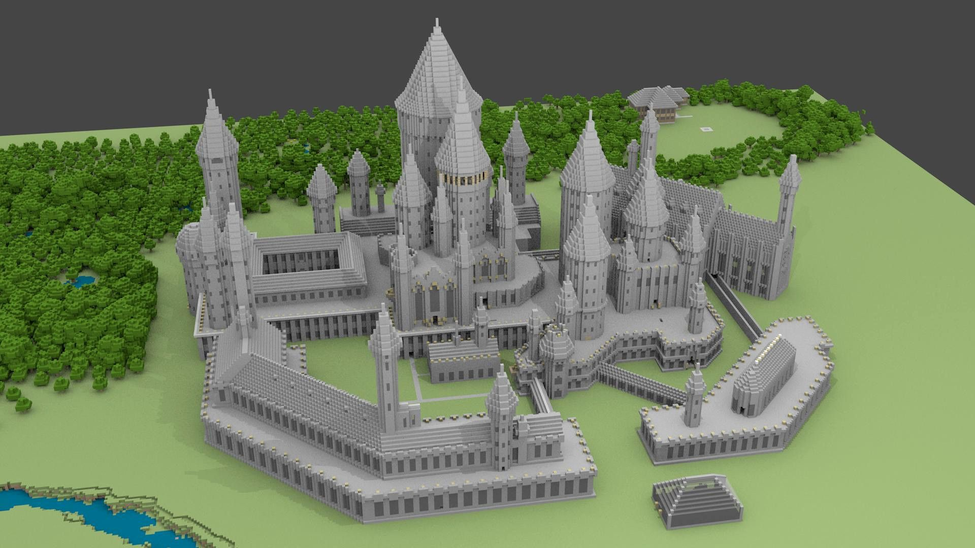 Step By Step Minecraft Medieval Castle Blueprints