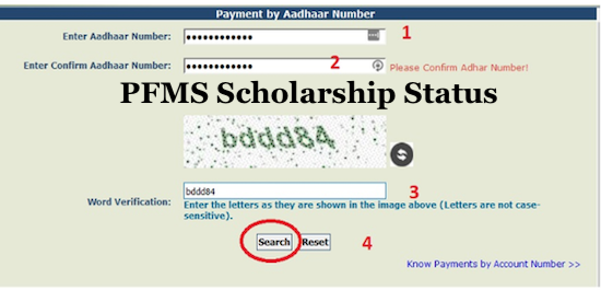 PFMS Scholarship 20192020 Registration, Student list