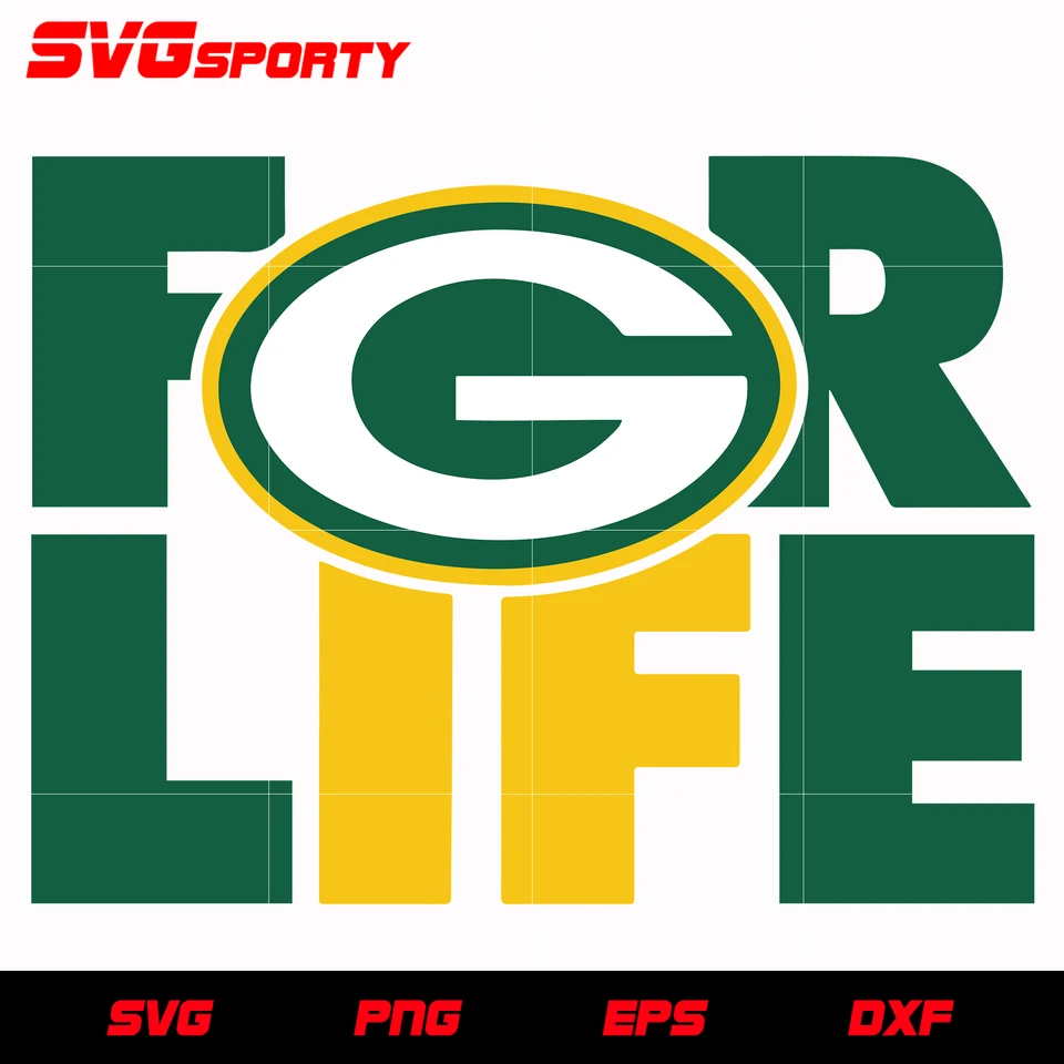 Green Bay Packers For Life Svg Nfl Svg Eps Dxf Png Digital File In 2020 Green Bay Packers Green Bay Svg