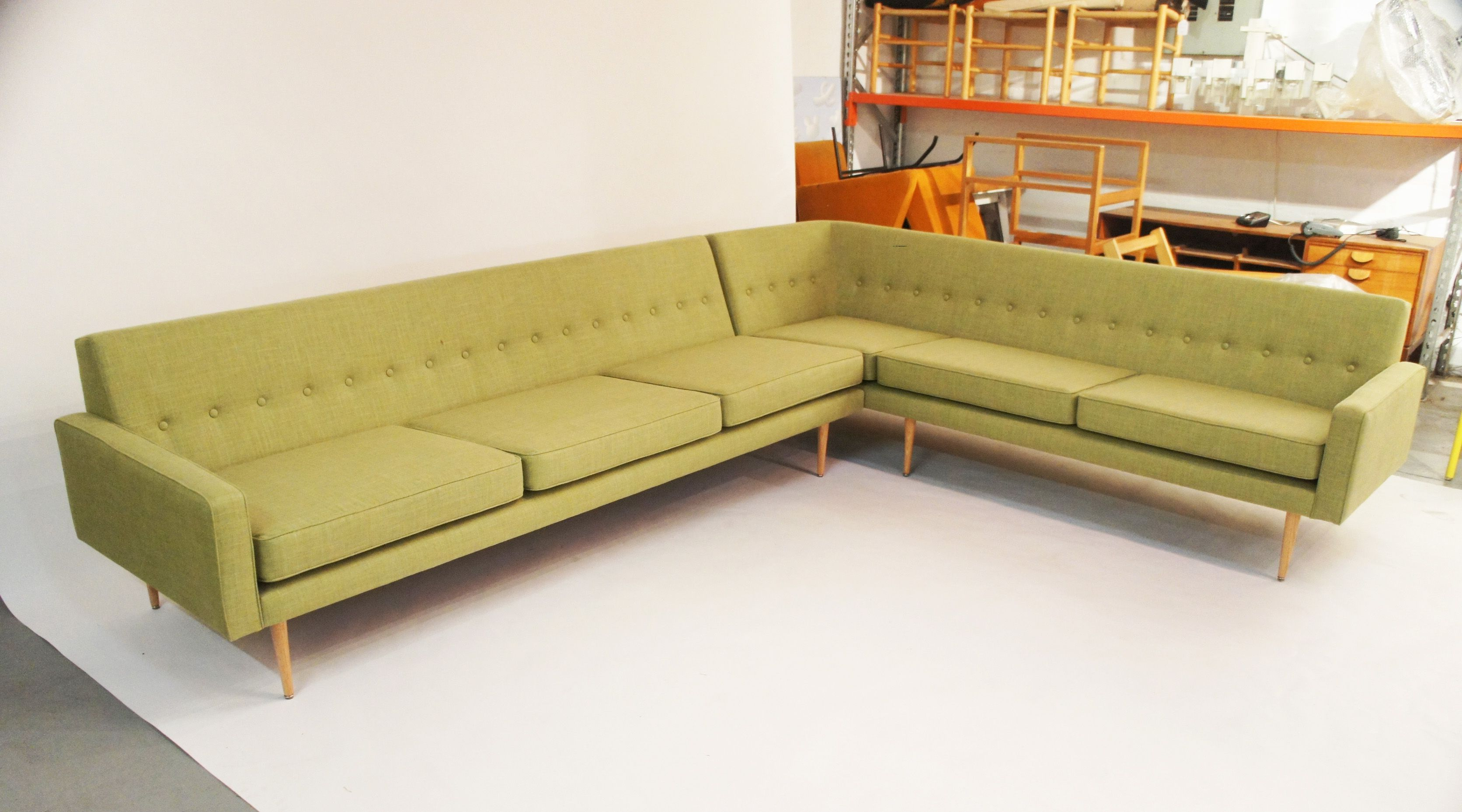 Slimline Sofa In A Corner Unit