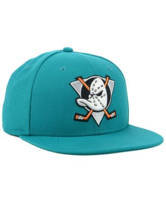 55cdc5e1f Authentic Nhl Headwear Anaheim Ducks Mighty Ducks Collection Fitted Cap -  Blue 7