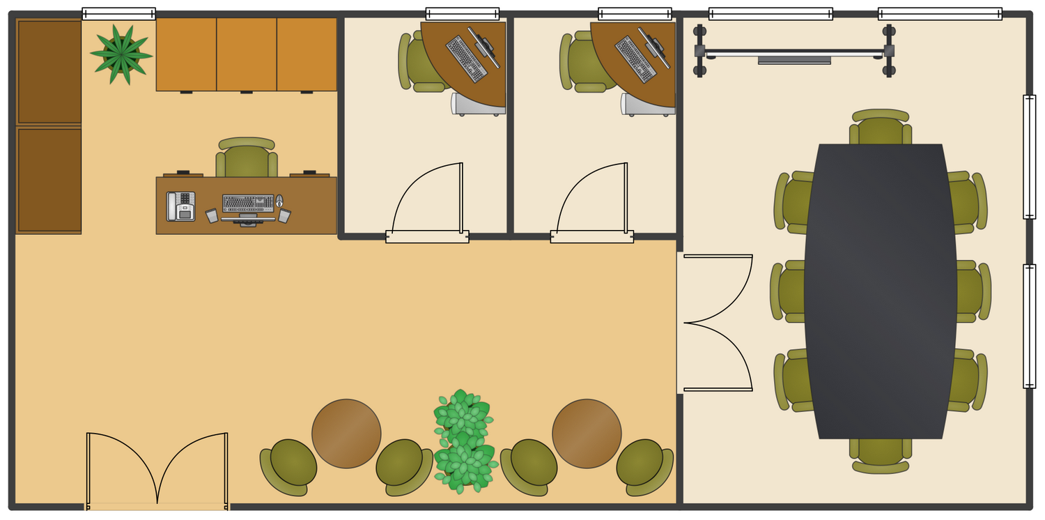 office layout plans solution conceptdraw com studio project 3