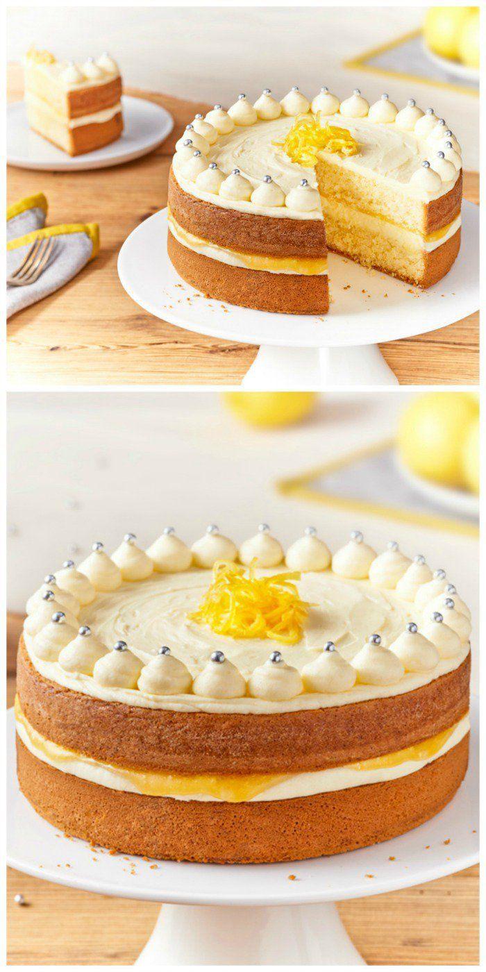 Zesty Lemon Celebration Cake Sweets Cakes Pinterest Lemon