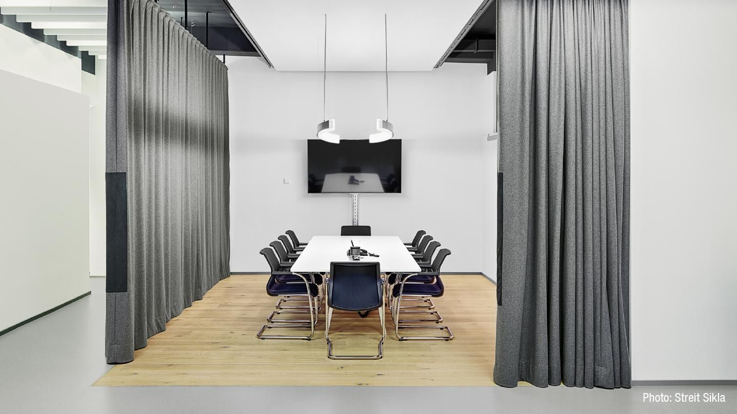 Office Sound Curtain at Sikla GmbH Office curtains