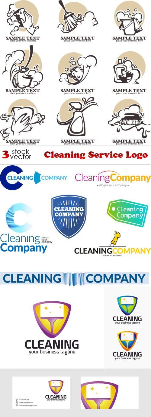 Vectors Cleaning Service Logo Cleaning service logo