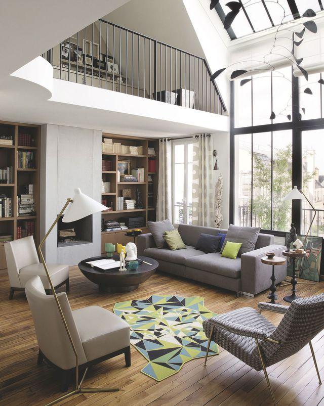 appartement paris 6 me un atelier sous verri re r nov en 120m2 vivre design. Black Bedroom Furniture Sets. Home Design Ideas
