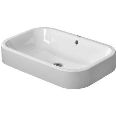 Duravit Happy D Rectangular Vessel Bathroom Sink with Overflow