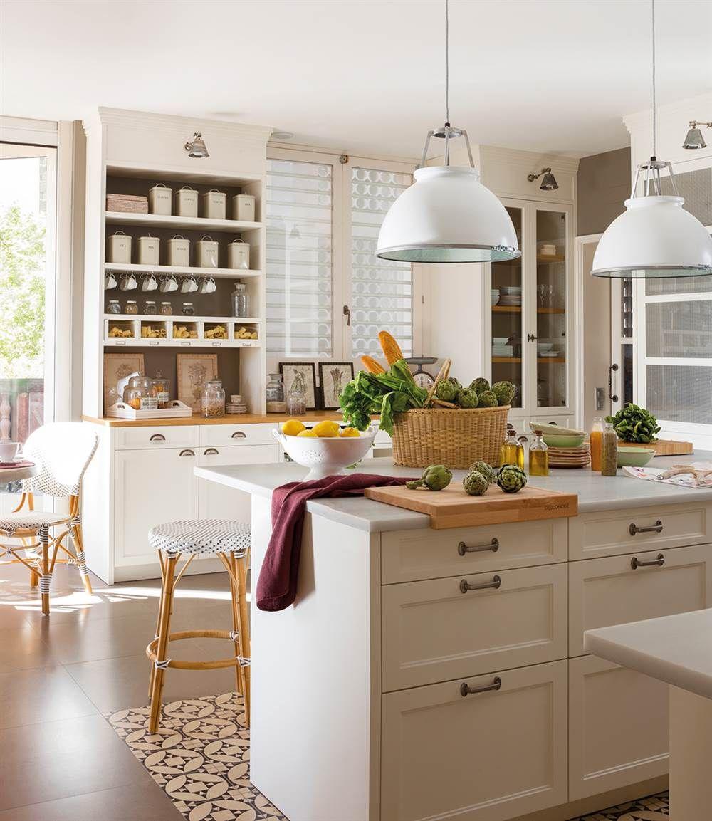 Estas tres cocinas dan en el blanco y ponen orden cocina - Cocinas comedor rusticas ...