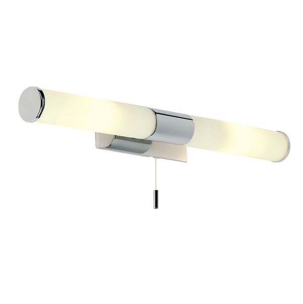 Endon Romford 2lt Wall Light Bathroom A 2 Lamp In Polished Chrome With Mirrored Bracket And