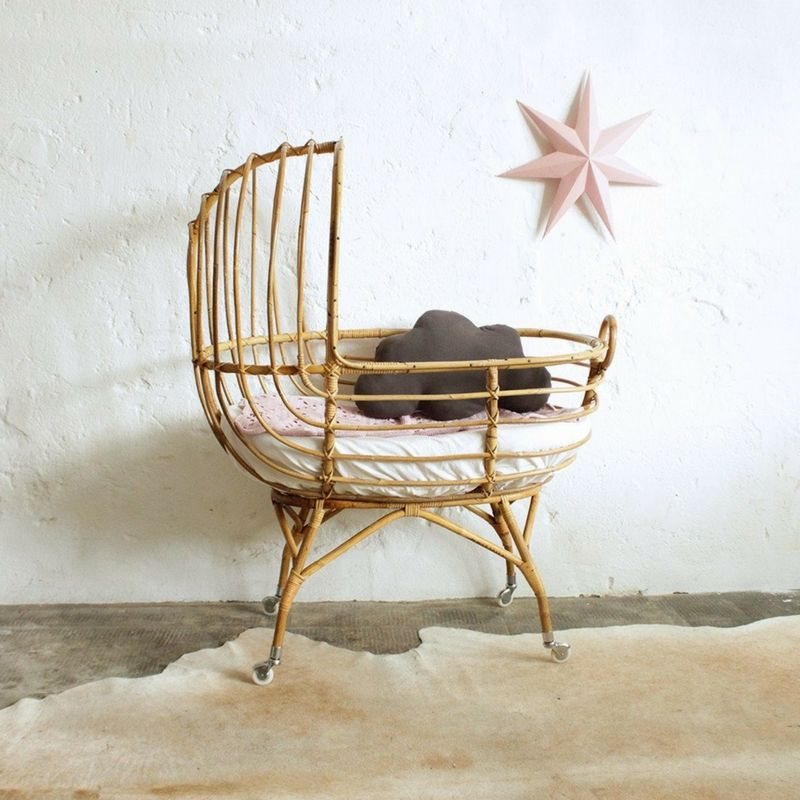 Beau 10 OF THE BEST: Cane Bassinets | Cane Bassinet By The Rattan Collective Nursery  Furniture