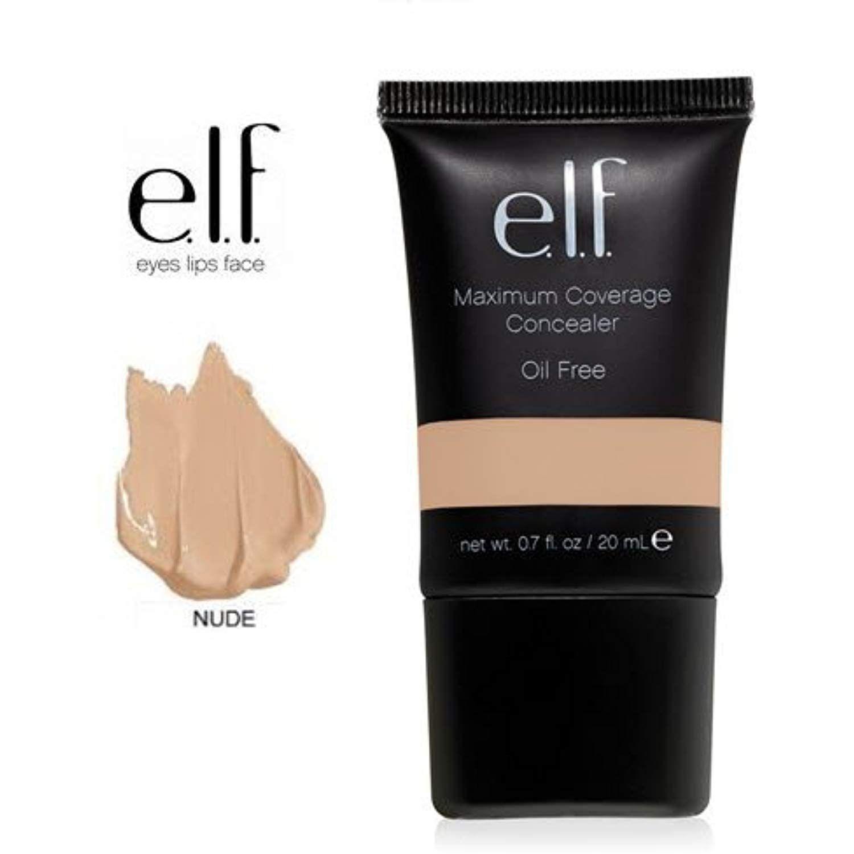 E.L.F. Cosmetics, Maximum Coverage Concealer, Nude, 0.70