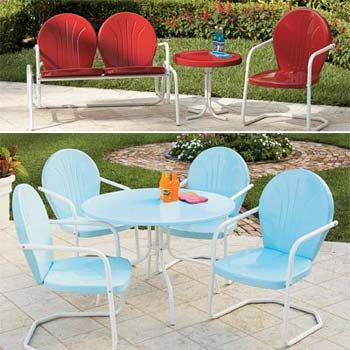 Retro Metal Patio Furniture With