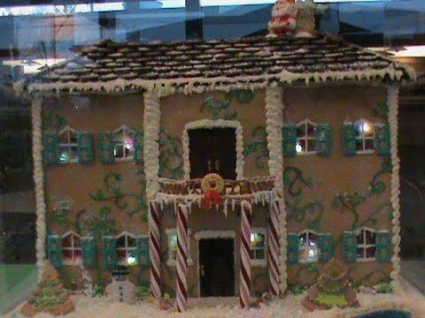 3 Foot Gingerbread House Led Lights And Sugar Windows Gingerbread House House Styles Gingerbread