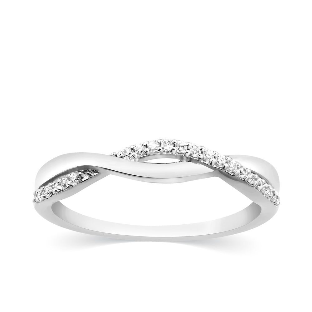 110 ct infinity diamond stackable band wedding ring solid